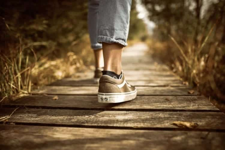 Walking relieves midlife stress