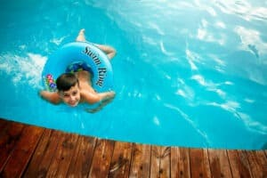 Boy in pool
