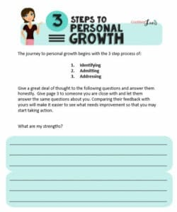 Preview of 3 Steps to Personal Growth worksheet