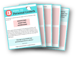 3 Steps to Personal Growth Worksheet