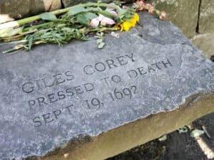 Giles Corey Memorial Stone