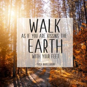 walk as if you are kissing the earth with your feet