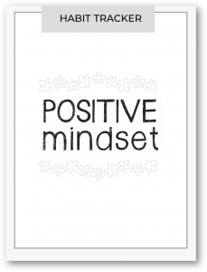 positive mindset habit tracker
