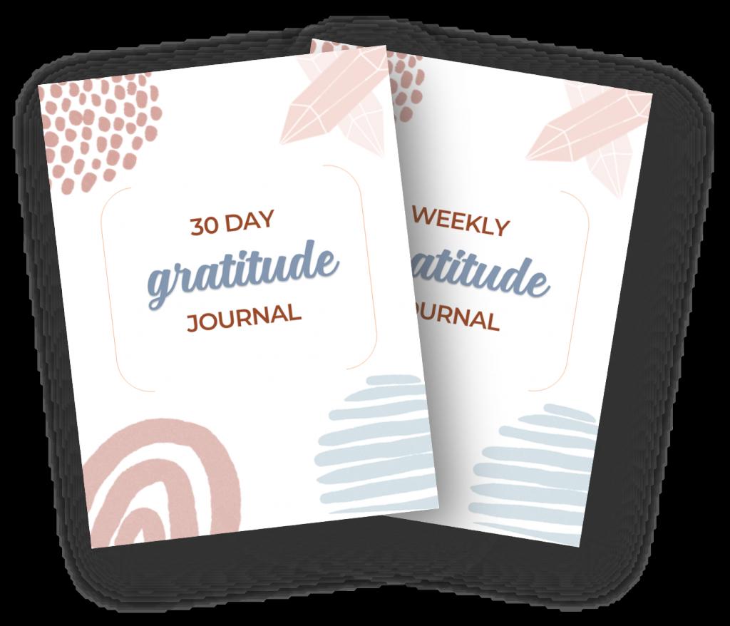 30 day gratitude journal set