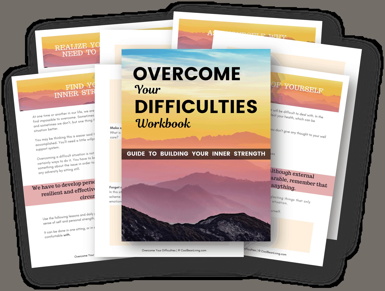 overcome difficulties workbook