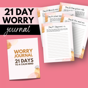 21 day worry journal