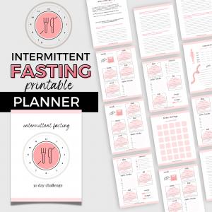 intermittent fasting 30 day challenge planner