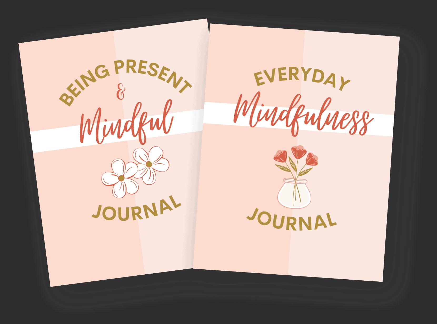 everyday mindfulness printable journal set