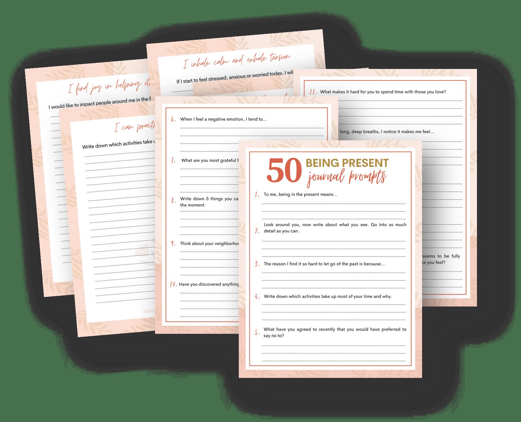 digital mindfulness journal prompts